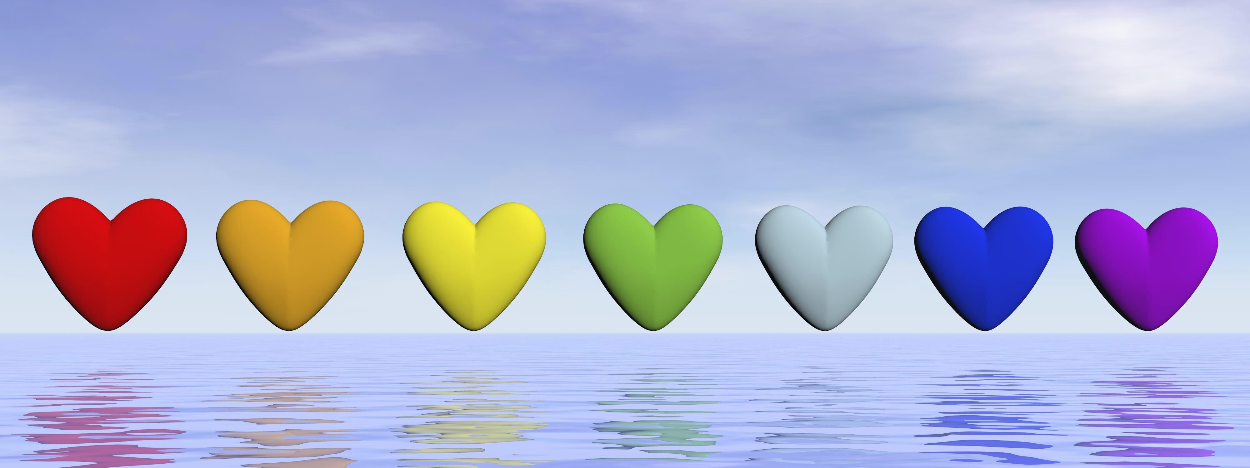 Chakra hearts - 3D render