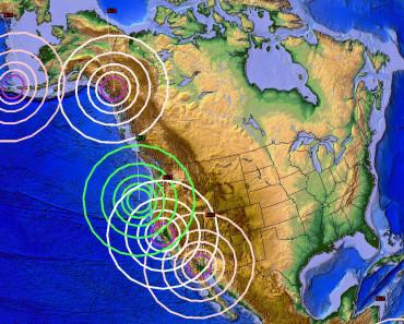 Trzęsienia ziemi na zachodzie Ameryki Północnej